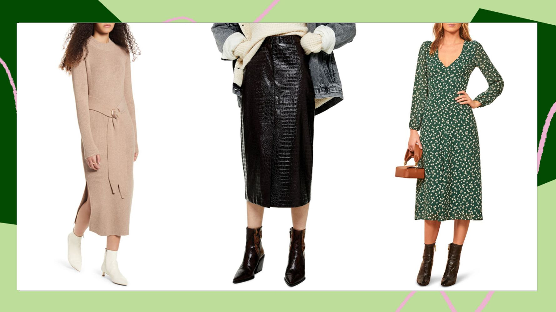 All The Midi Dresses And Skirts To Snag From Nordstrom's Winter Sale